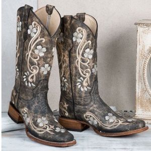 CIRCLE G WOMEN'S FLORAL EMBROIDERED WESTERN BOOTS